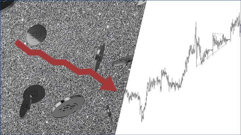 Вот как вы могли заметить начало падения цен на серебро (перевод с elliottwave com)